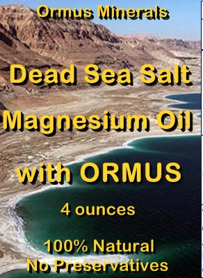 Ormus Minerals -Dead Sea Sa;t Magnesium Oil with ORMUS
