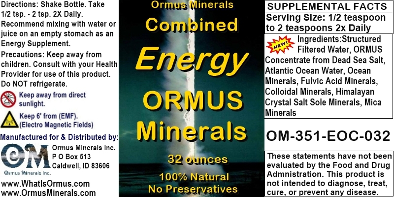 Ormus Minerals - Combined Energy Ormus Minerals (New Fam)